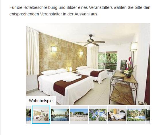 Screenshot Hotelzimmer Mexiko Urlaub 3 Wochen All Inclusive günstig ab 1475,00€ - Cancun Yucatan