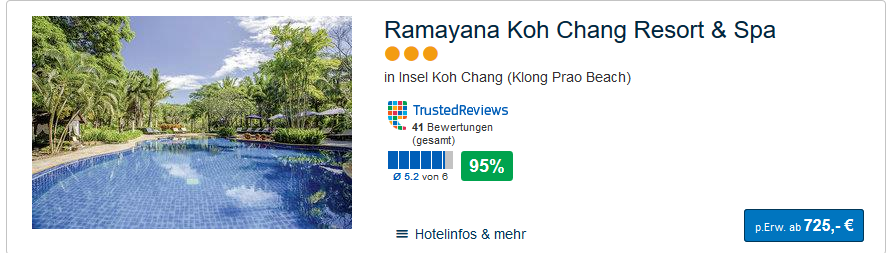 Screenshot Pauschalreise nach Koh Phangan