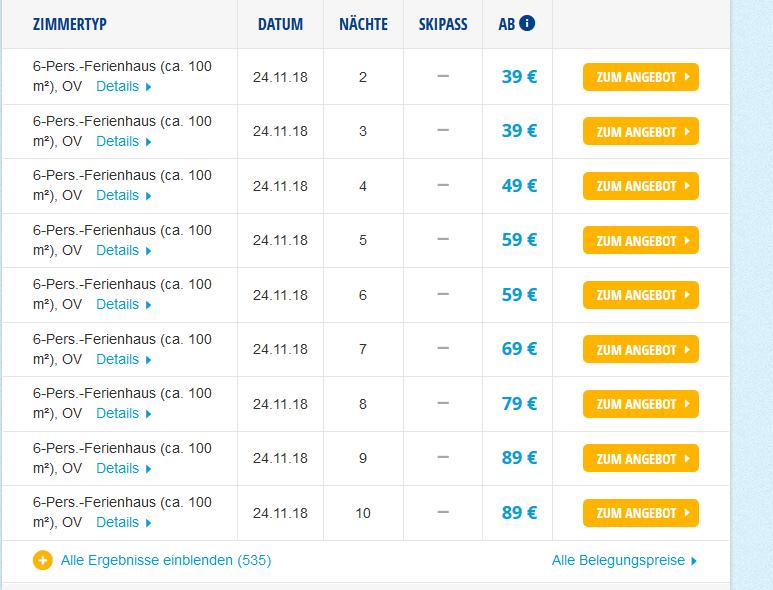 Screenshot Winterurlaub Deals in Tschechien günstig ab 39,00 € - Skiurlaub im Feriendorf Happy Hill 3