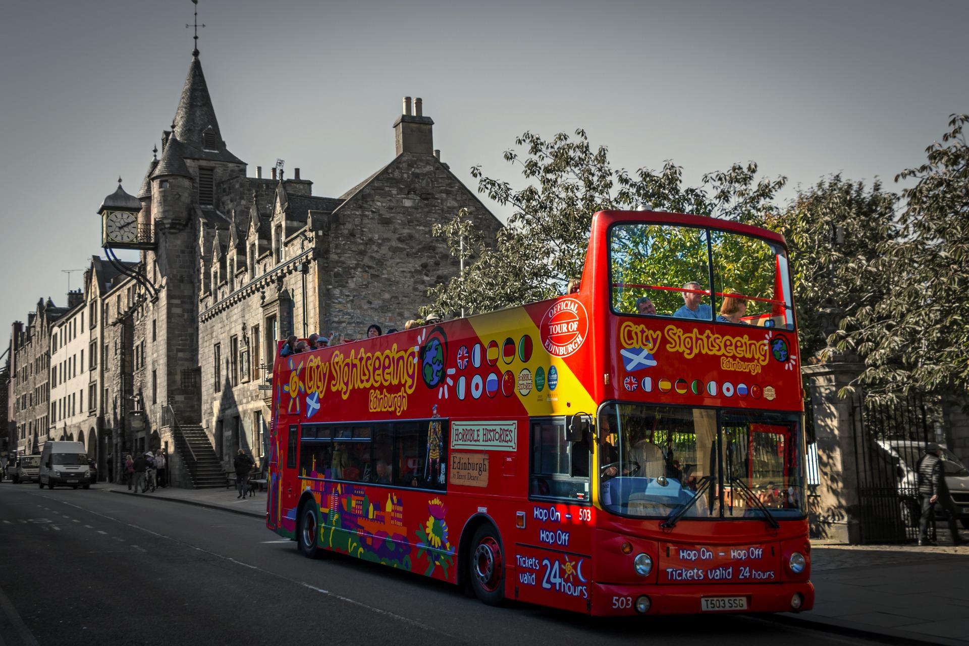 Städte Trip nach Edingburgh Hop on Hop off Bus
