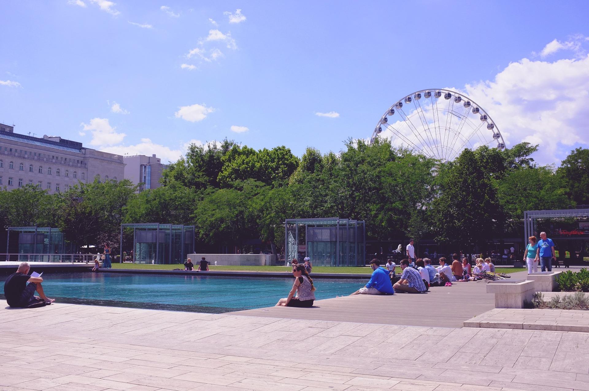 Städte reise nach Budapest Stadtpark