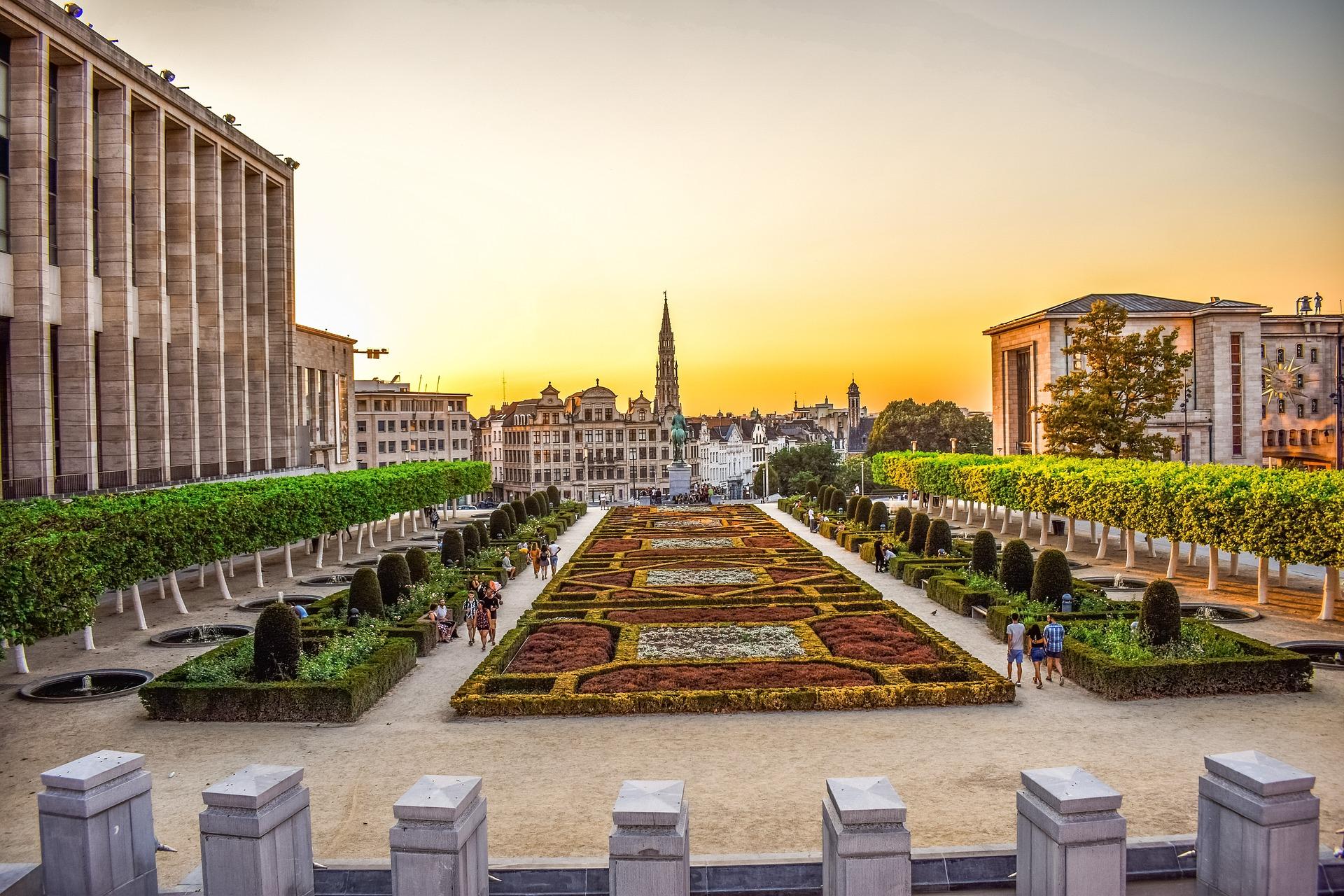 Sunset in der Haupstadt von Belgien