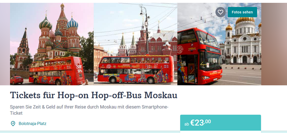 Screenshot Deal Hop on Hop off Bus in Moskau