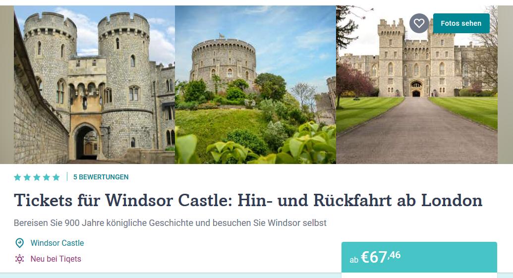 Screenshto Deal für Windsor Castle