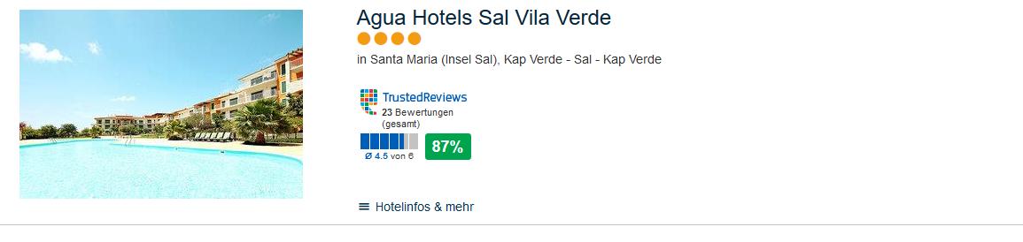 Agu Hotels Sal Vila Verde 4 Sterne Hotel