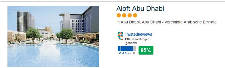 Aloft Abu Dhabi mit der besten Kundenbewertung