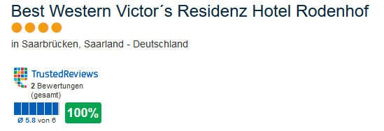 Best Western Victor´s Residenz Hotel Rodenhof 4 Sterne