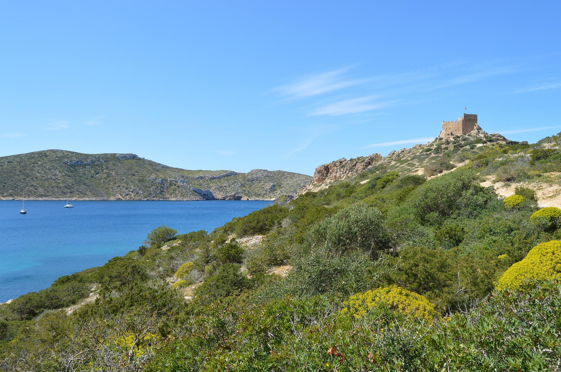 Cabreara Balearische Insel der Ort an dem die einheimischen Wohnen und wo der Massentourismus nicht exestiert
