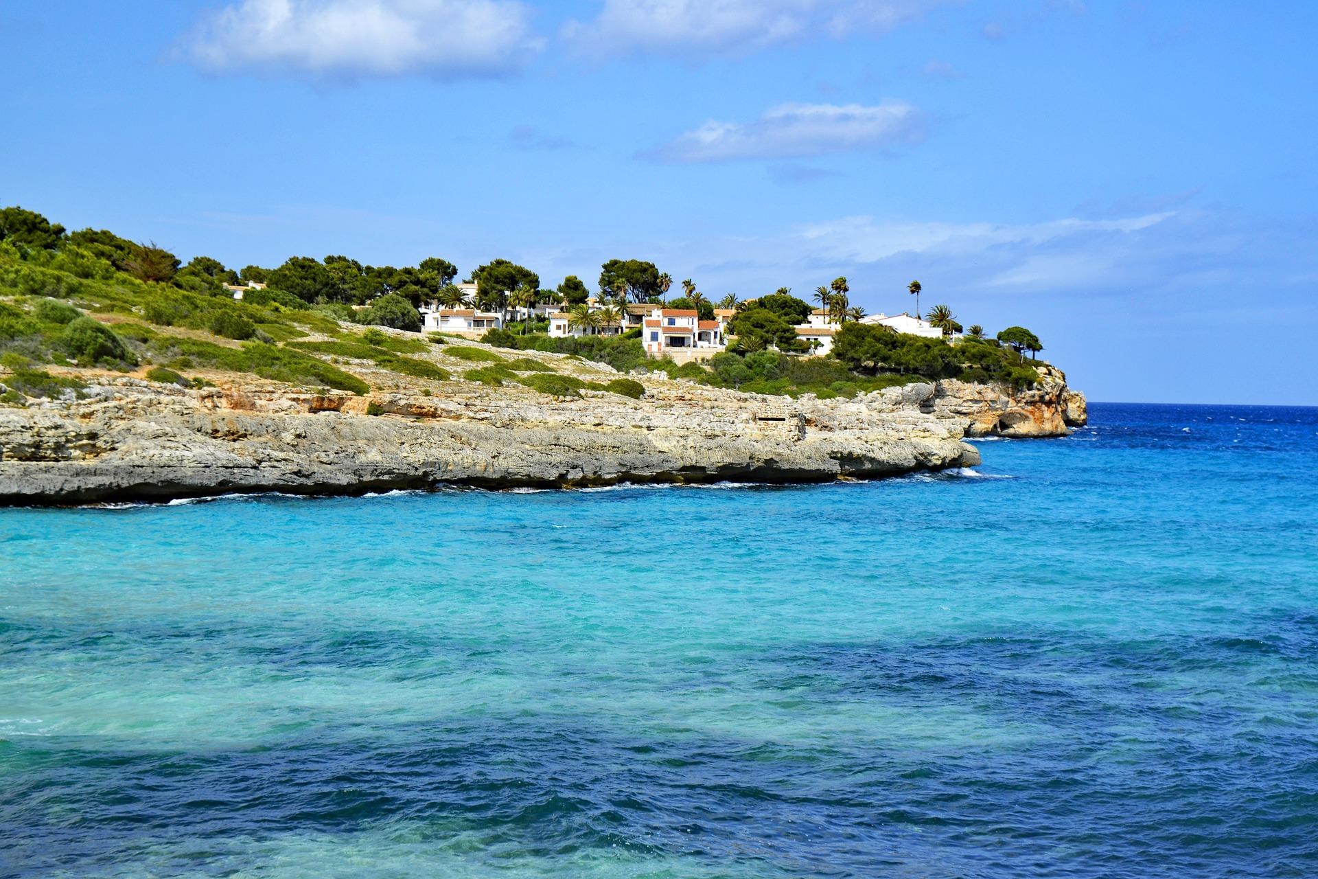 Cala Mandia wundervolle Küstenabschnitte im Osten der Insel Mallorca - Balearen in Spanien.