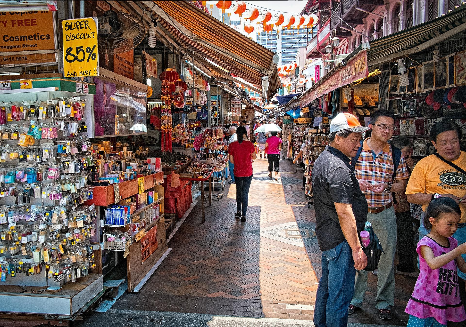 Das China Town von Singapur ist überragend