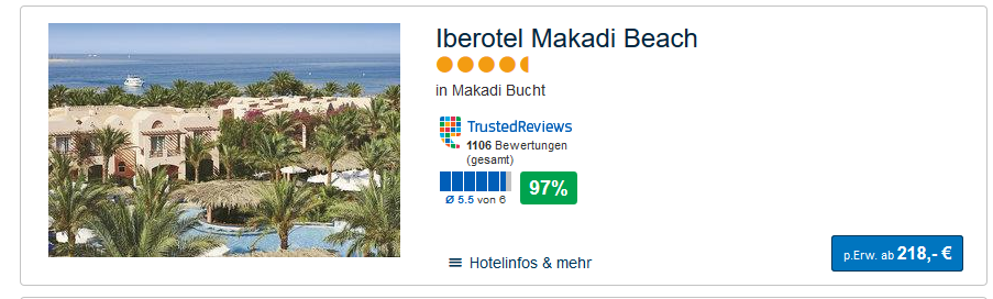 Das Hotel in Hurghada mit der besten bewertung