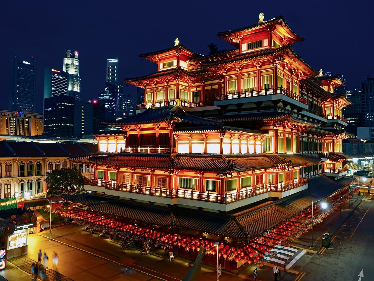 Der Buddha Tooth Relic Tempel in Singapur - ein muss bei jeder Sightseeing Tour