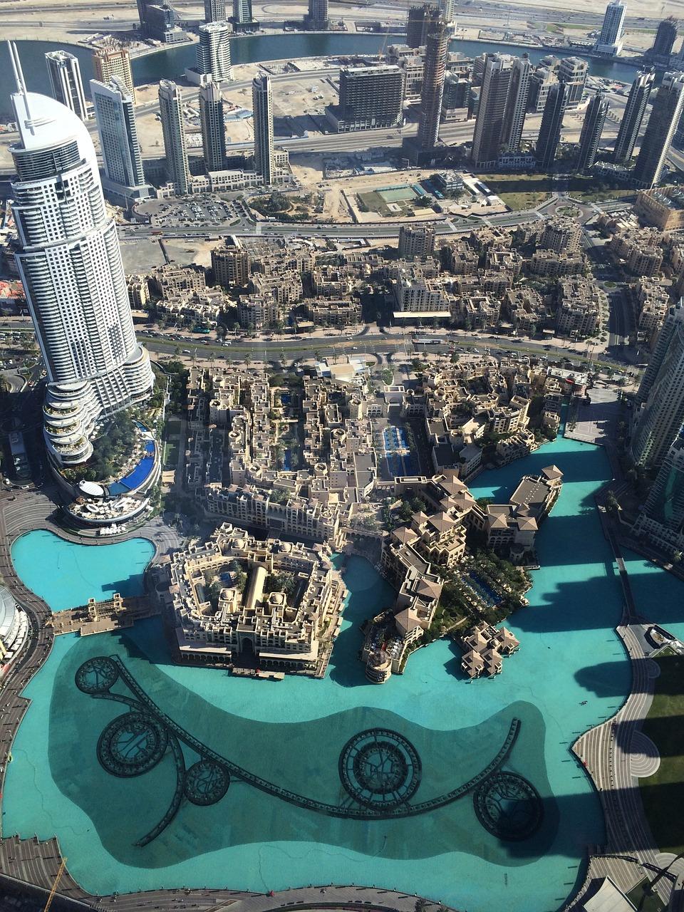 Die Aussicht auf 452 Metern Höhe im höchsten Gebäude der Welt