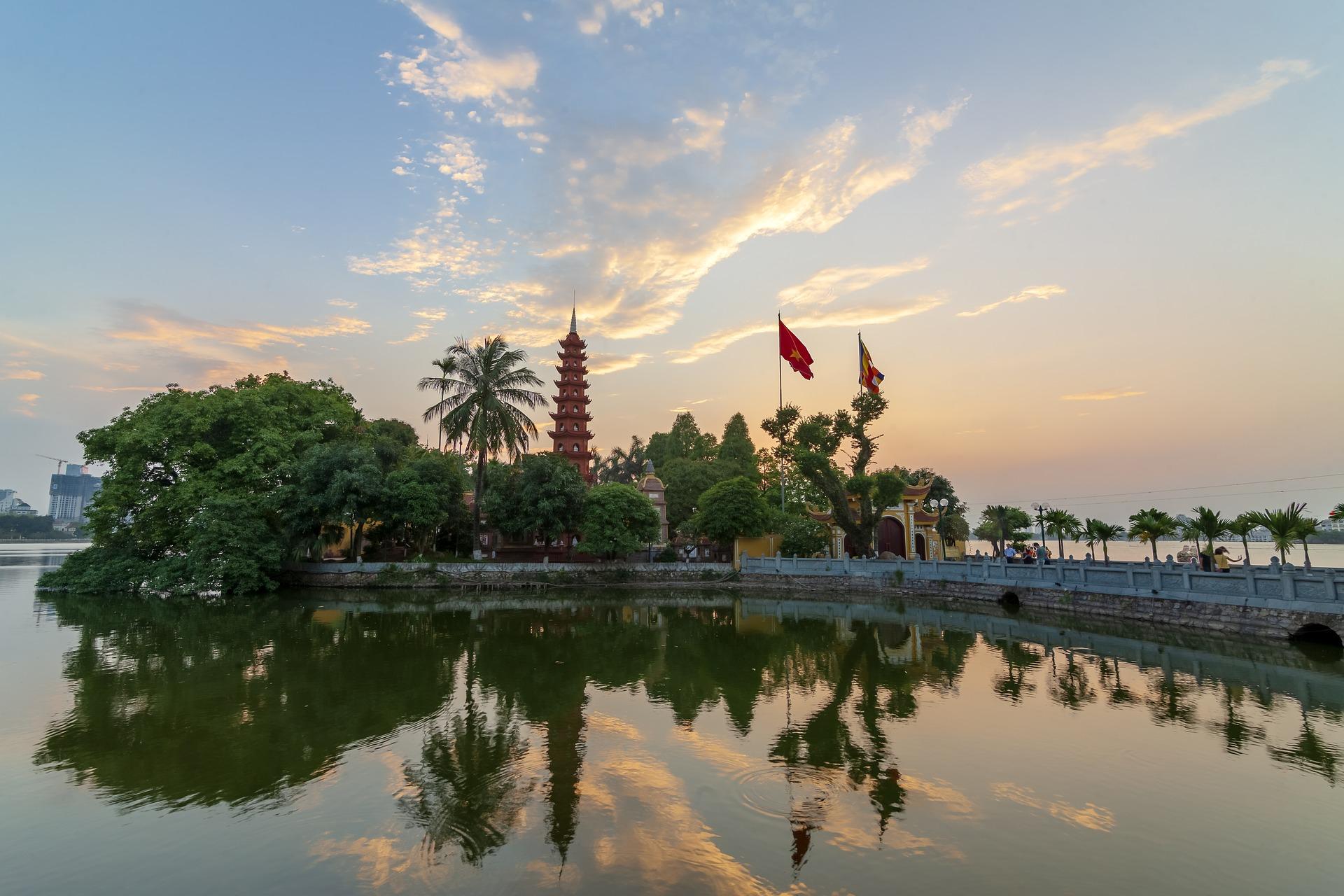Die alte Pagode von Hanoi