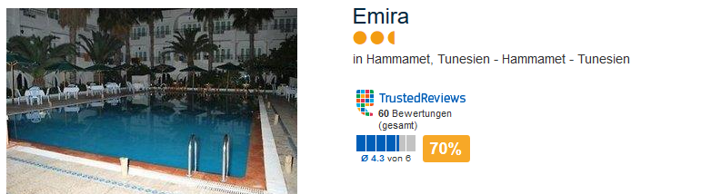 Emira Hotel in Hammamet Tunesien