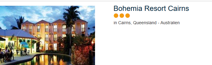 Günstiges Hotel Cairns Bohemia Resort