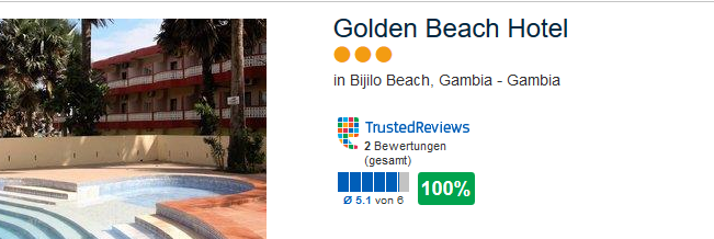 Golden Beach Hotel in Gambia