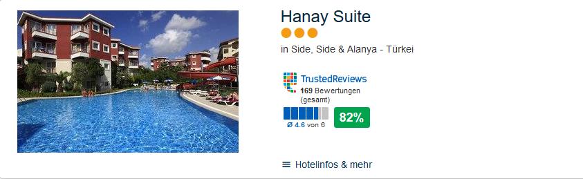 Hanay Suite Side Ferien an der türkischen Riviera