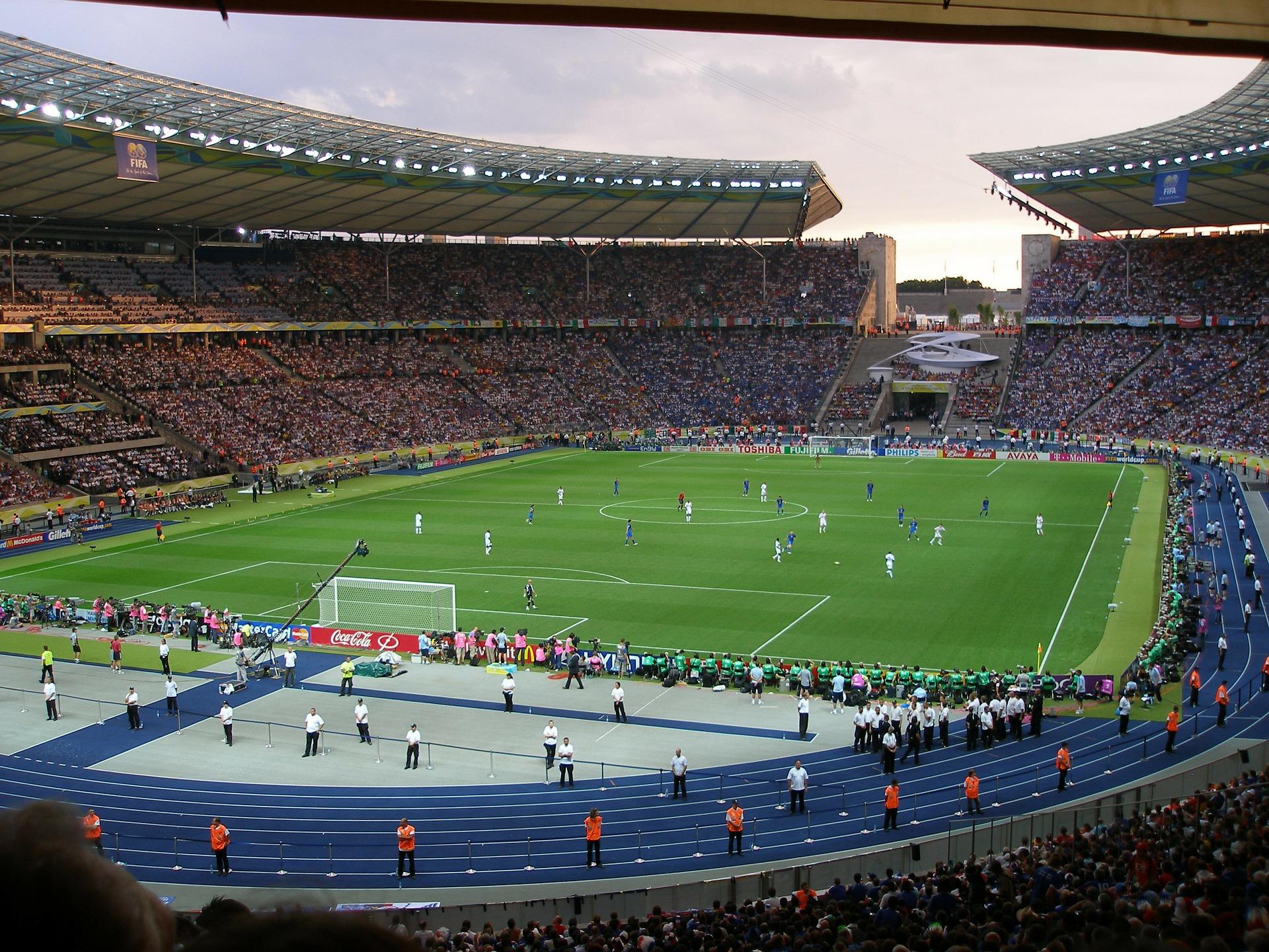 Hertha BSC vs Schalke 04 Bundesliga im Olympia Stadion in Berlin
