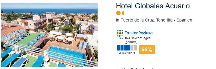 Hotel Globales Acuario auf Teneriffa in Puerto de la Cruz