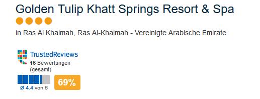 Hotel Golden Tulip Khatt Springs Resort & Spa