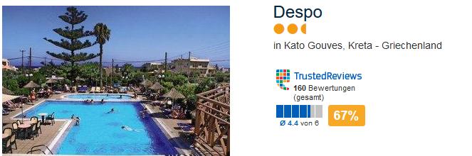 Hotel in Kato Gouves Kreta