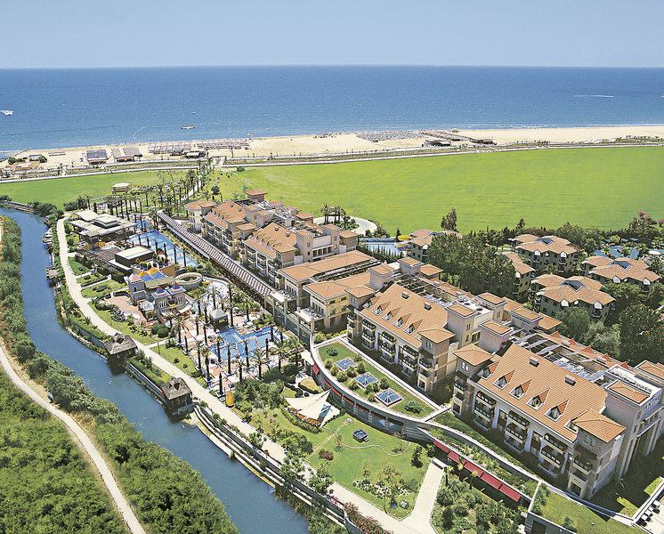 Iti Xanthe Resort & Spa in side Kumköy bei Alanya in der Türkei die Hotelanalge von oben