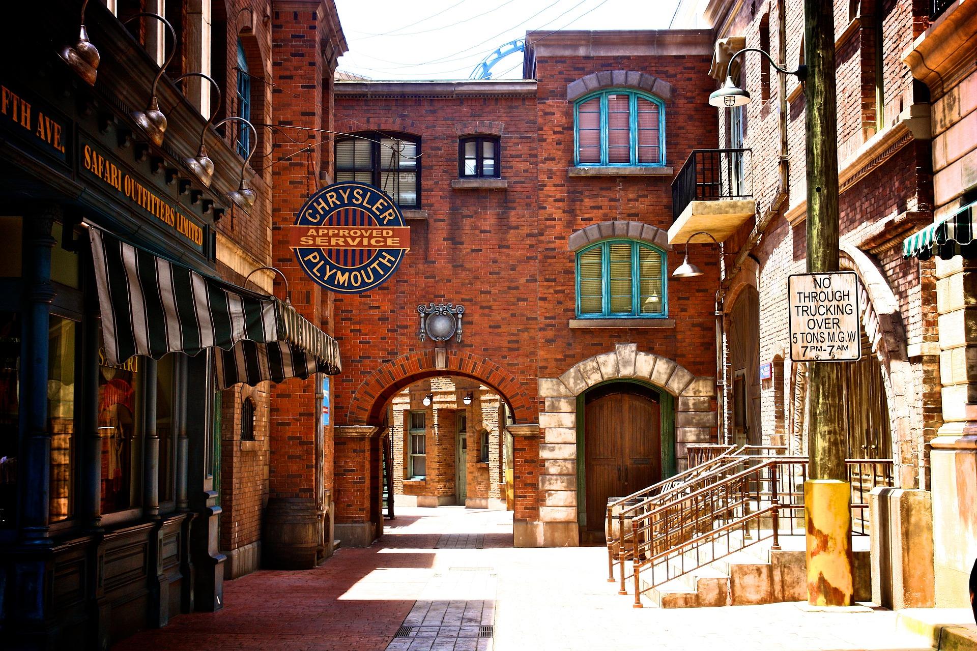 Kulissen in den Universal Studios Singapur
