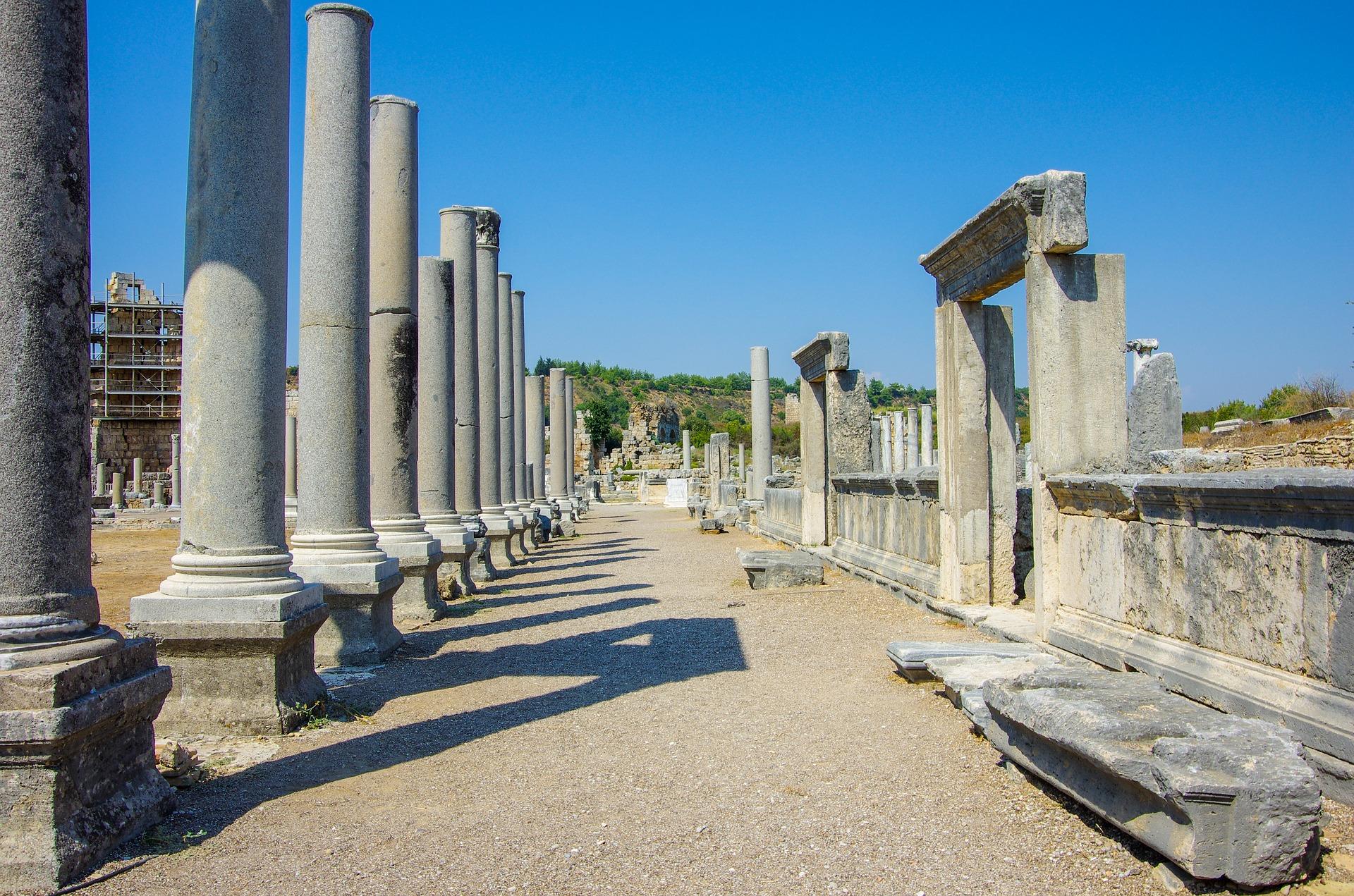 Perga die überreste der alten Stadt