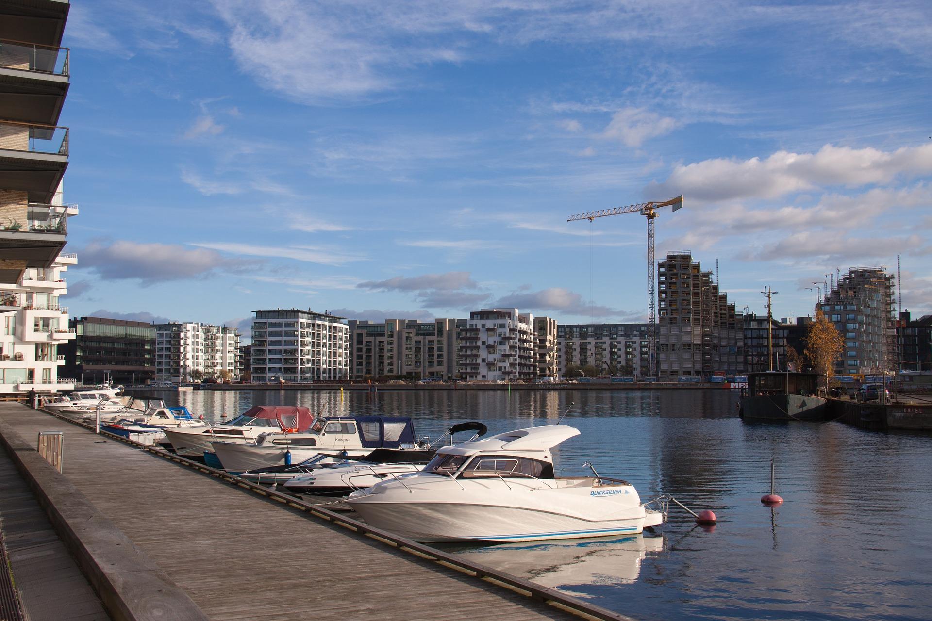 Pier der Privatboote in Kopenhagen