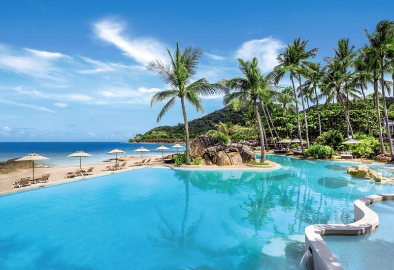 Pool vom Sheraton Samui Resort am Chwaeng Noi Beach