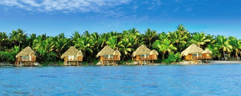 Private Island Resort Wohnbeispiel auf Aitutakiinsel