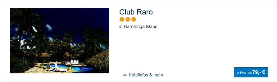 Rarotonga Insel Hotel ab 79,00€ die Nacht pro Person
