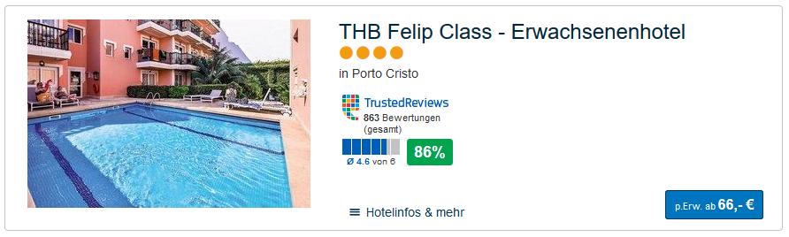 Screenshot Auszeit auf Mallorca schon ab 66,00€ Flug & Hotel auf Palma de Mallorca