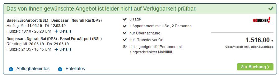 Screenshot Bali Deal 8 Nächte ab 758,00€