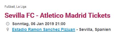 Screenshot Beispiel Match in der spanischen Liga