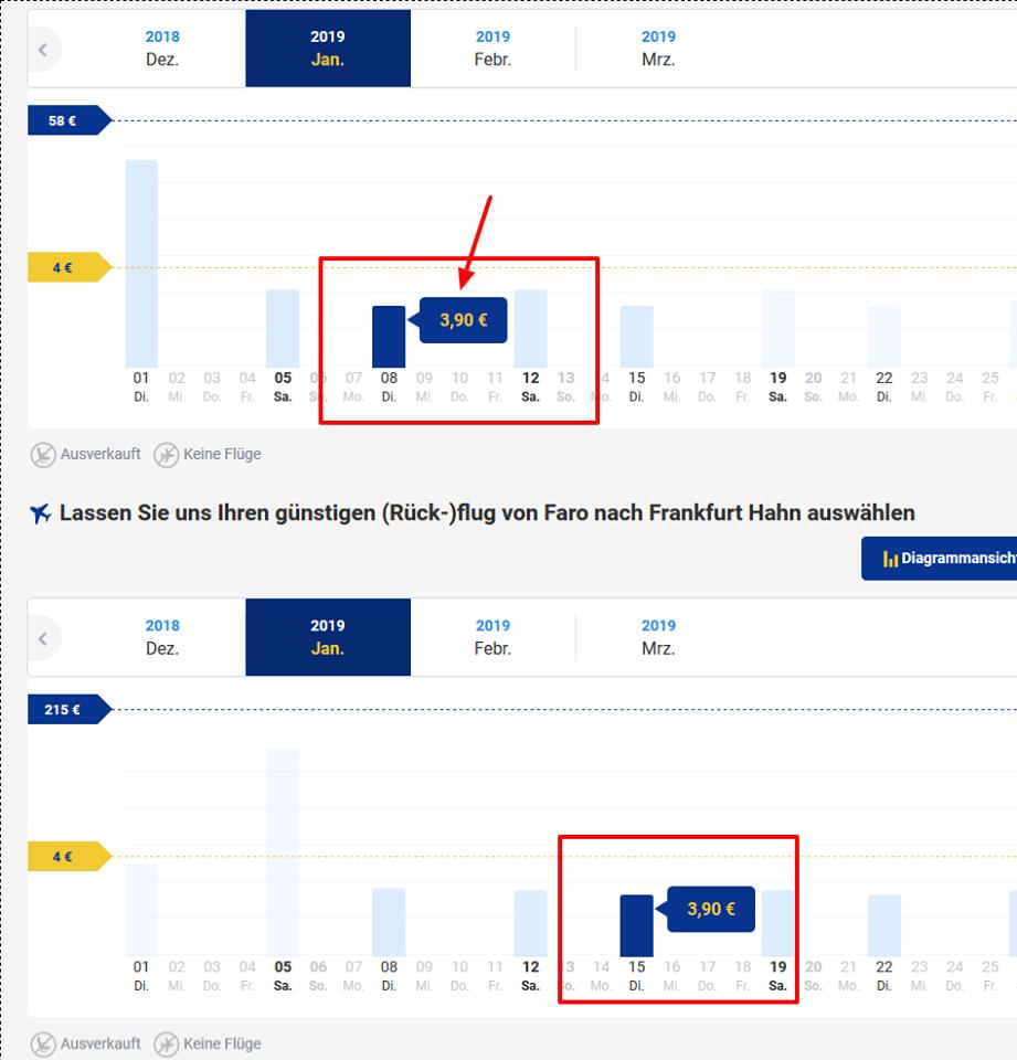 Screenshot Deal Flugangebot nach Portugal ab 3,90€ ! Günstig durch die Air