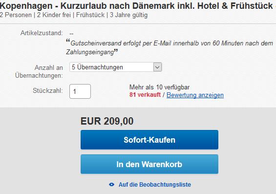 Günstiges Hotel Kopenhagen ab 20,90€ die Nacht ! Städte Reise Kopenhagen 1