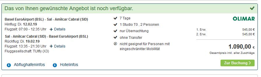 Screenshot Deal Kap Verden Santa Maria - Insel Sal ab 545,00€ eine Woche