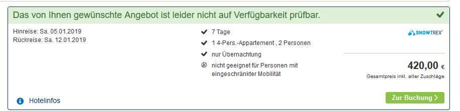 Screenshot Deal Skiurlaub in Charmrousse günstig ab 210,00€ die Woche + Skipass