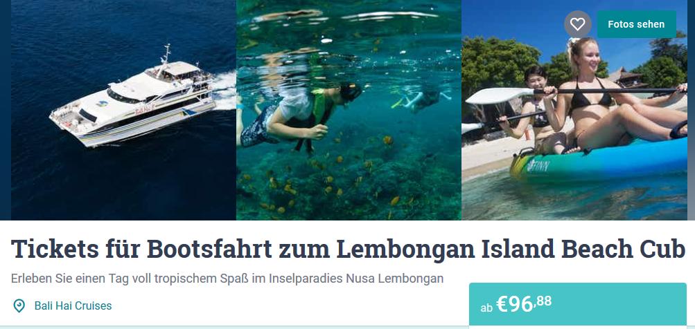 Screenshot Deal Tauchen auf Bali im Lembongan Island Beach Cub günstig ab 96,88€