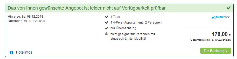 Screenshot Deal Unterkunft in Niederrau ab 89,00€ statt 212,00€ - Hotel Wildschönau