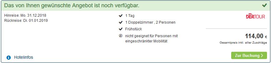 Screenshot Flixtrain fahren und günstiges Hotel buchen Hamburg an Silvester