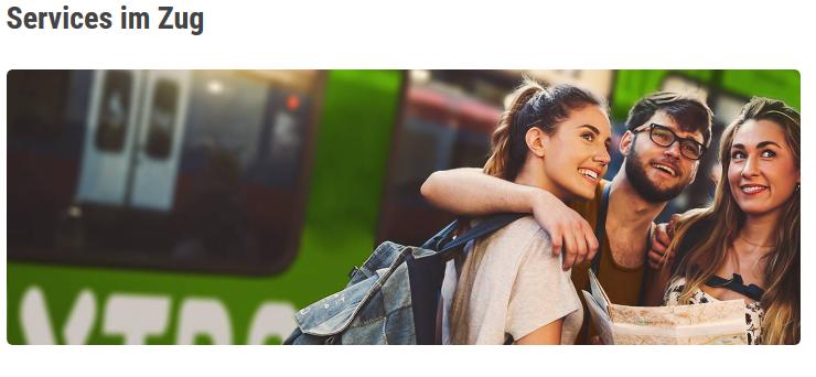 Screenshot Flixtrainbuchen Service im Zug