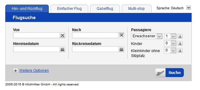 Screenshot Günstige Flugtickets Suchen & Buchen durch die Air mit WoW