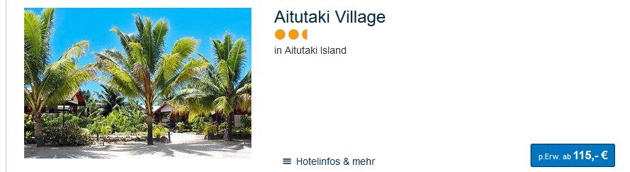 Screenshot Hotel auf Aitutaki Island ab 115,00€ die Nacht