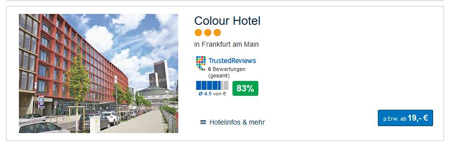 Screenshot Hoteldeal Mit dem Flixtrain Aktionsticket ab 2,19€ von Berlin nach Frankfurt