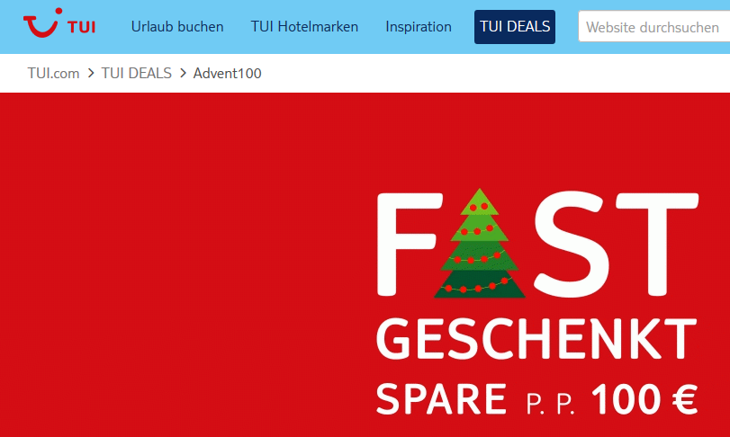 Screenshot Tui Advent100