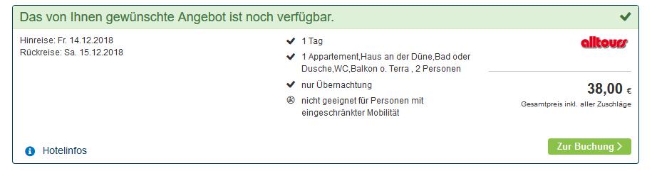 Screenshot Weissenhäuser Strand Urlaub im Appartment ab 19,00€ die Nacht