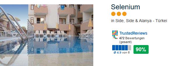 Selenium 3 Sterne Hotel mit 90% Kundenzufriedenheit